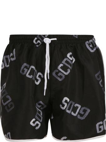 GCDS Logo Print Swim Shorts