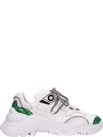 N.21 Billy Sneakers In White Technical Fabric