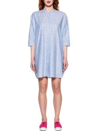 Bagutta Light Blue/white Striped Linen Dress