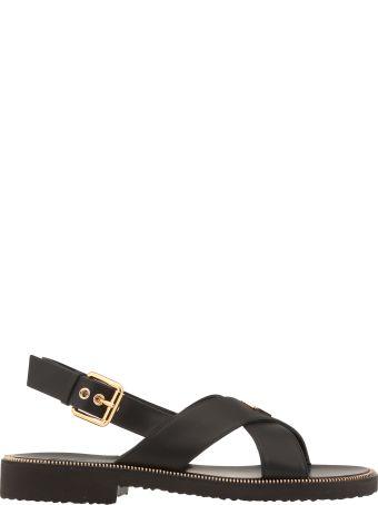 Giuseppe Zanotti Leather Braided Sandal