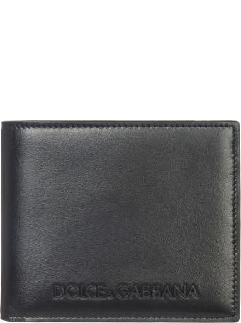 Dolce & Gabbana  Genuine Leather Wallet Credit Card Bifold