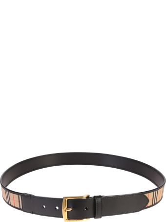 Burberry Leather And Canvas Belt