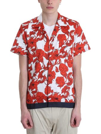 Low Brand White/red Crepe De Chine Shirt
