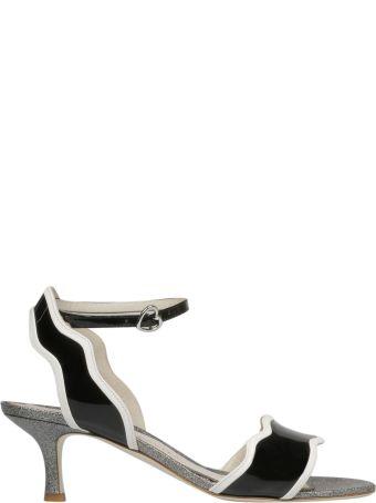 Francesca Bellavita Stardust Kitten Heel Sandals
