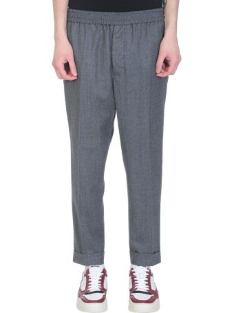 Ami Alexandre Mattiussi Grey Wool Pants