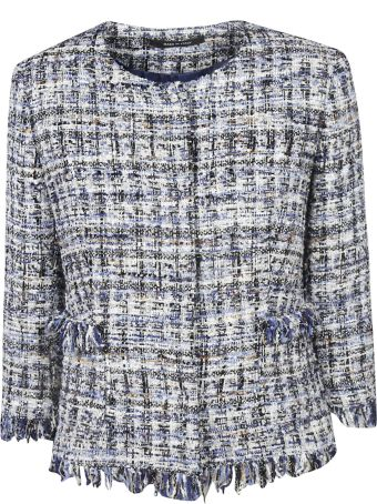 Tagliatore 0205 Fringed Detail Jacket