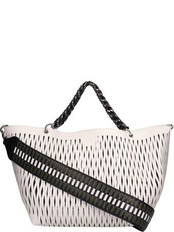 Sonia Rykiel Panier Le Baltard White Leather Tote Bag