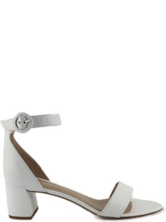 Aldo Castagna White Leather High-heel Ginevra Sandals