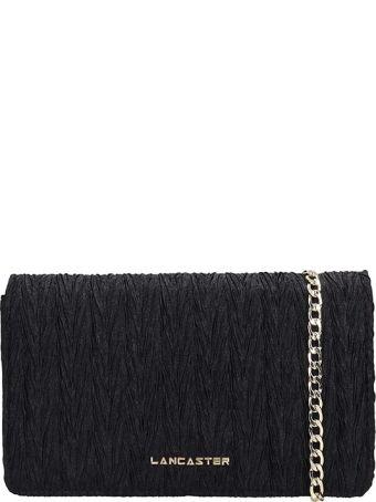 Lancaster Paris Black Fabric Froisse Mini Bag