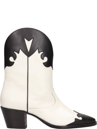 Paris Texas Tex Black White Ankle Boots
