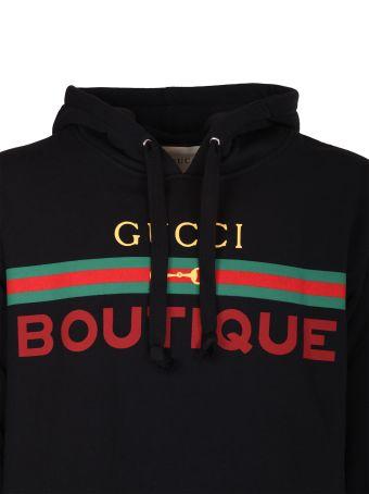Gucci Black Hooded Sweatshirt
