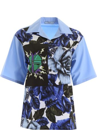 Prada Bowling Shirt With Rose Print