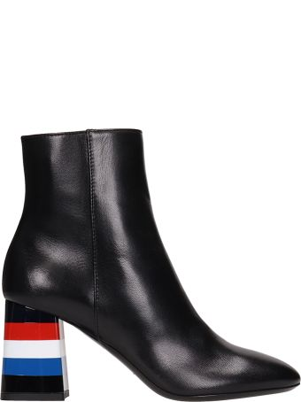 Sonia Rykiel Leather Block Heel Boots
