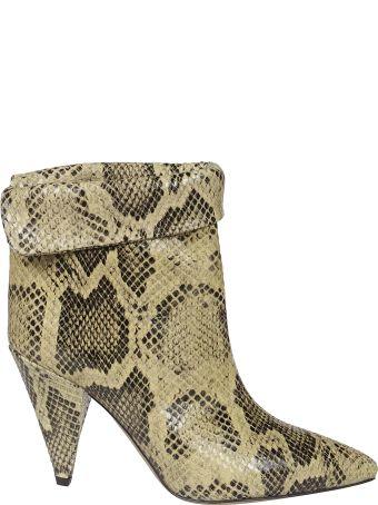 Isabel Marant Lisbo Python Print Boots