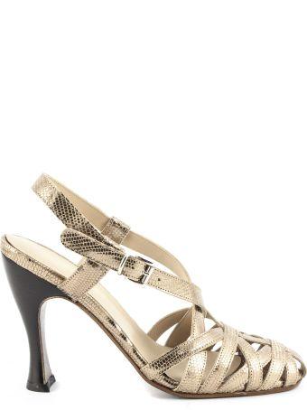 Duccio del Duca Cinnamon-tone Leather Pallas Sandals