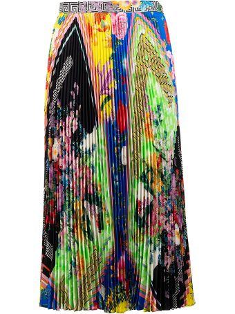 Versace Acid Bloom Print Skirt
