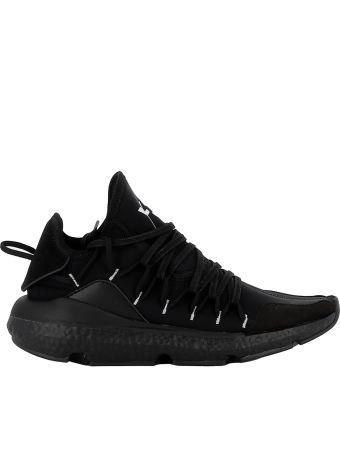 Y-3 Black Fabric Sneakers