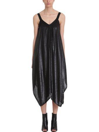 L'Autre Chose Black Sequins And Lurex Dress