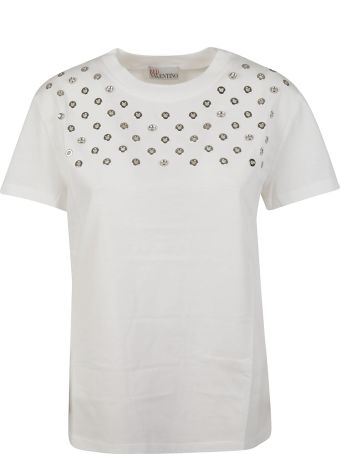 RED Valentino Eyelet Embellished T-shirt