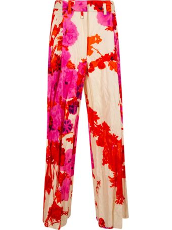 Dries Van Noten Floral Print Trousers