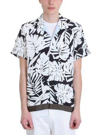 Low Brand White/blue Crepe De Chine Shirt
