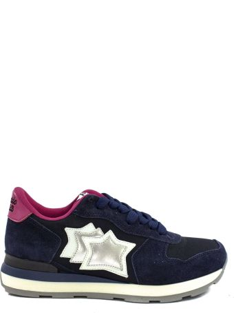 Atlantic Stars Vega In Blue Suede And Fabric Sneaker.