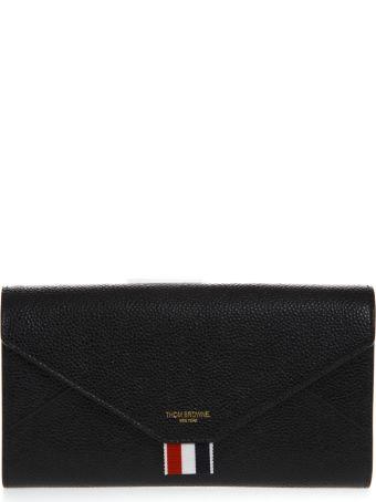 Thom Browne Black Leather Versatile Wallet
