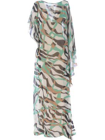 Roberto Cavalli Sheer Long Dress