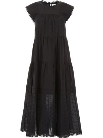 See by Chloé Long Dress With Polka Dots