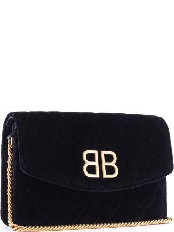 Balenciaga Chain Wallet Black Velvet