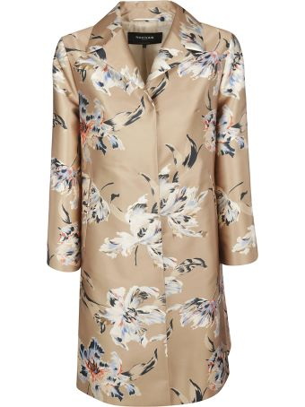 Rochas Floral Print Long Coat