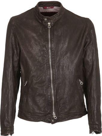 Stewart Zipped Leather Jacket