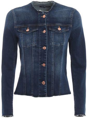 7 For All Mankind Frayed Denim Jacket