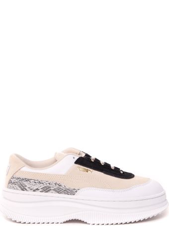 Puma Select Deva Reptile Cream Color Suede Snekaer