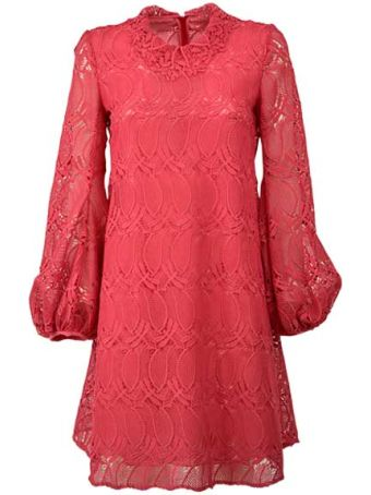 Giamba Flared Lace Dress