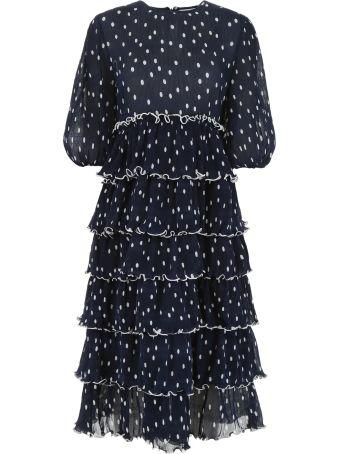 Ganni Ruffled Polka Dots Dress