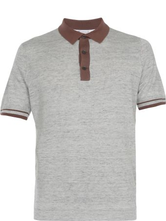 Brunello Cucinelli Linen And Cotton Three Buttons Polo Shirt