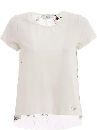 Blugirl Embroidered Floral T-shirt