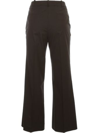 Kiltie & Co. Florette Flared Cropped Pants Cotton Stretch