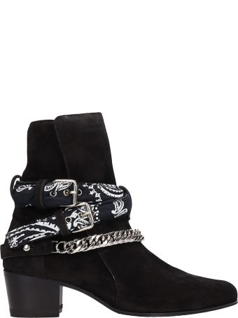 AMIRI Black Suede Ankle Boots