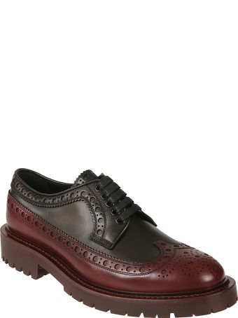 aa6f0155301b Burberry Burberry Brogue Detailed Derby Shoes - Black antique garnet -  10794114