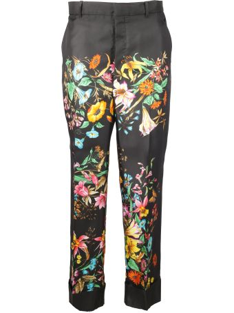 Gucci Flower Printed - Wide Leg