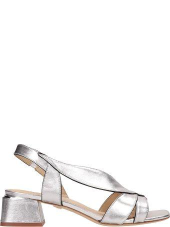 Lola Cruz Silver Patent Leather Sandals