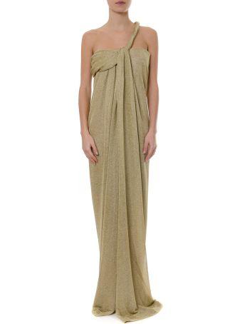 Lanvin Long Asymmetrical Lurex Dress