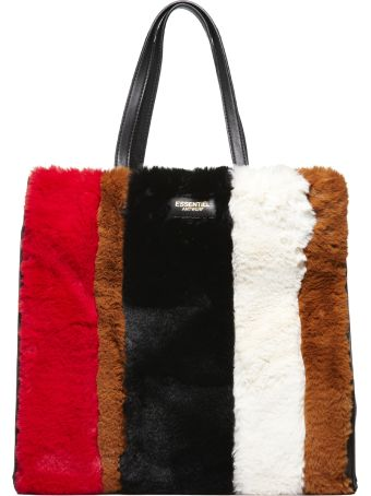 Essentiel Striped Fur Tote