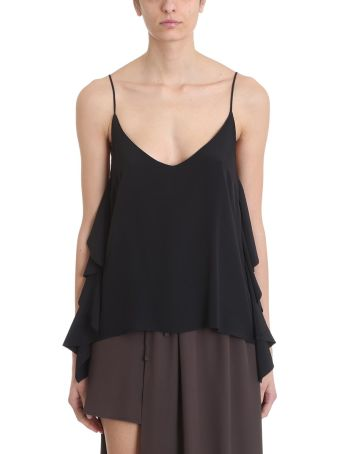 Mauro Grifoni Black Viscose Top