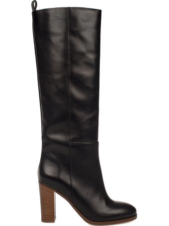 Fabio Rusconi Black Goat Leather High Boot