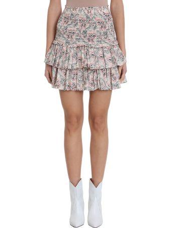 Isabel Marant Étoile Naomi Pink Beige Cotton Skirt