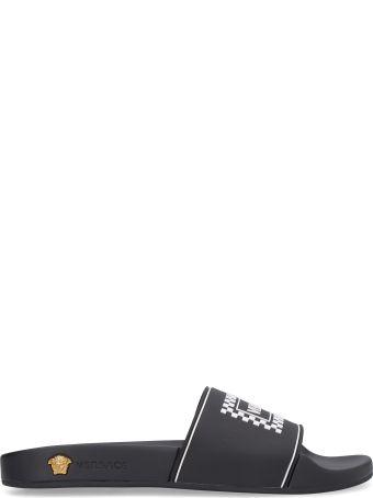 Versace Logoed Rubber Sliders