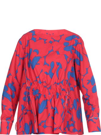 Marni Draped Multicolor Blouse